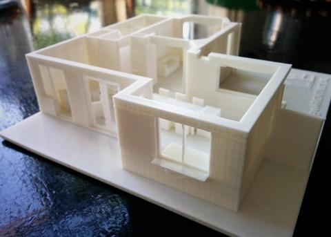 3D-print van een verbouwing